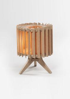 Lamel Nº2 Wooden Floor Lamp by Samosa