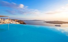 The Cosmopolitan Suites Santorini, is a luxury Hotel in Fira of Santorini in the Cyclades, that offers a panoramic caldera sea view of the Aegean. - central location