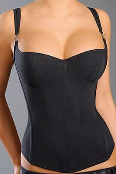 Plus Size Corset, Push-Up Underwire, Black Lingerie