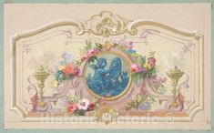 <p>Design fo the Allegory of the Arts - French, died 1897-French, born Paris, 1820 - Artist Nationality: French-French - Original Medium, Materials or Technique: Graphite, gouache, and watercolor</p><p>We print high quality reproductions of historical maps, photographs, prints, etc. Because of their historical nature, some of these images may show signs of wear and tear - small rips, stains, creases, etc. We believe that in many cases this contributes to the historical character of the item.</p> Vintage Wall Art, Vintage Walls, Decoupage, Mural Painting, Paintings, Classic Image, Historical Maps, Home Art, Vintage World Maps