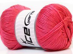 Baby AntiBacterial Salmon knitting yarn from ice yarn