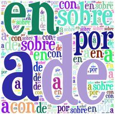 PREPOSICIONES Spanish Grammar, Spanish Teacher, Spanish Classroom, Teaching Spanish, Spanish Language, Preposition Activities, Writing Activities, Teachers Toolbox, Blended Learning