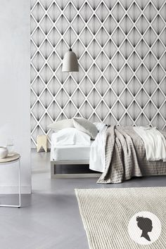 Removable Diamond Pattern Self Adhesive Wallpaper by Livettes D191