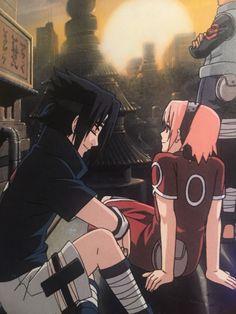 Sasuke: Hey Sakura now that you have short hair you can see your clan sign. Sakura: Oh I guess your right Sasuke-kun. Naruto Shippuden Sasuke, Anime Naruto, Sasuke Uchiha Sakura Haruno, Naruto Cute, Hinata, Shikamaru, Kakashi, Naruto Team 7, Naruto Couples