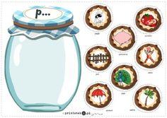 Słój z ciasteczkami z głoską [p] – pozycja głoski w wyrazie - Printoteka.pl Phonics Reading, Cosmetic Shop, Math For Kids, Kids And Parenting, Worksheets, Language, Cosmetics, Crafts, Maths