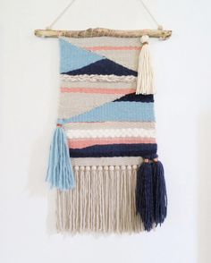 Woven wall hanging 'Headland Sunrise' by creativebowerbird on Etsy