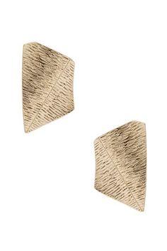 Abstract plate stud earrings (Topshop)