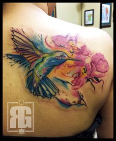 Watercolor tattoo done by: Richard Garcia  Legacy Arts Tattoos