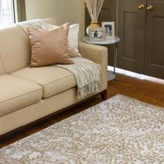 @Overstock - Julie Cohn Hand-knotted Keswick Abstract Design Wool Rug (4' x 6') - This plush hand-knotted rug features soft colors of ivory, grey and fern on a neutral backdrop that will work well in any space. The inviting New Zealand wool is warm underfoot and the abstract design complements any home decor style.  http://www.overstock.com/Home-Garden/Julie-Cohn-Hand-knotted-Keswick-Abstract-Design-Wool-Rug-4-x-6/6372815/product.html?CID=214117 Add to cart to see special price