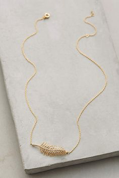 Luminous Feather Pendant Necklace #AnthroFave