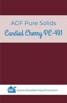 $18 CAD per yard AGF Pure Solids Candied Cherry PE-491. Premium PIMA Cotton 44″ wide, The purest hues meet Art Gallery Fabrics' soft hand and superior quality. All the solids you have been looking for to match your collections are here! Sold by the 1/4 yard or in Fat Quarters, ships to Canada and USA. #agfsolids#agfpuresolids #longarmquilting #ilovequilting#quiltersdream #yegquilter #colorful #canadianquiltshop #sewcanadian #onlinequiltshop #onlinequiltstore #onlinefabricshop Met Art Galleries, Cherry Candy, Art Gallery Fabrics, Blue Quilts, Longarm Quilting, Fabric Shop, Superior Quality, Fat Quarters, Quilt Patterns