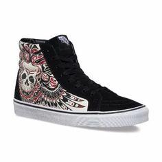 74f35353a09 Vans Sneakers SK8-Hi Reissue - (Stormy Bird) Black True White