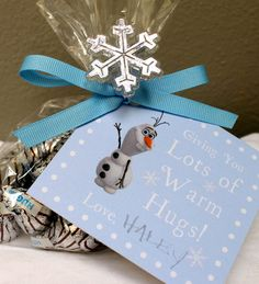 Elegant Frozen Party Gift Tags- Warm Hugs from Olaf Party Favor Tags- Instant Download on Etsy, $3.00