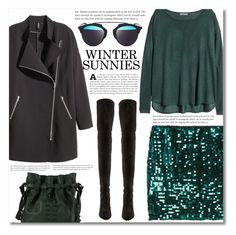 """""""~Winter sunnies~"""" by dolly-valkyrie ❤ liked on Polyvore featuring H&M, Christian Dior, Stuart Weitzman, Orciani and wintersunnies"""