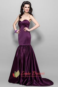 lindadress.com Offers High Quality Elegant Dark Eggplant Purple Mermaid Prom Dress 2015,Priced At Only USD USD $142.00 (Free Shipping)