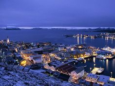 Hammerfest, Norway is one of the northernmost Towns in the world. (Also check out Svalbard / Spitsberger / Longyearbyen, Norway which is nestled in a mountain of ice and snow in Norway. Svalbard is where the Global Seed Vault is in Norway.