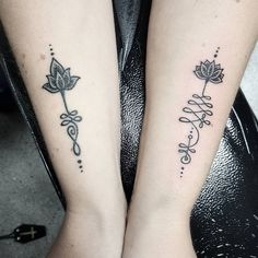Match matchy, one on the left is healed and the right is fresh #tattoo #theoldeenglish #dotwork #dotworktattoo #unalometattoo #unalome #armtattoo #newcastletattooist