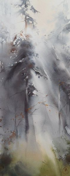 Awakening by Ilya Ibryaev (Илья Ибряев) watercolor