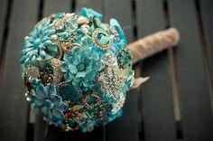 Jewelry Bouquet -  Owl themed vintage wedding by MyOwlBarn, via Flickr