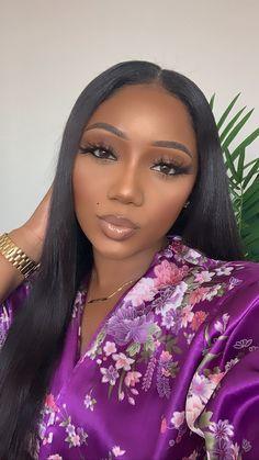 Makeup For Black Skin, Red Lips Makeup Look, Makeup Eye Looks, Black Girl Makeup, Full Face Makeup, Girls Makeup, Eyebrow Makeup Tips, Beauty Makeup, Hair Makeup