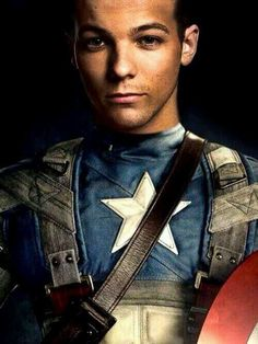 Louis as captain America