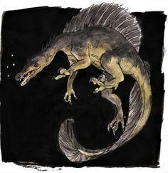 Jurassic Park, Jurassic World, Prehistoric Wildlife, Prehistoric Creatures, Cartoon Dinosaur, Dinosaur Art, All Dinosaurs, Spinosaurus, Park Art