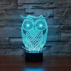 Owl Shape 3D LED Lamp