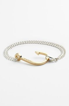 Miansai Gold Hook Chain Bracelet available at #Nordstrom