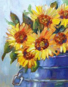 """Bucket of Sun"" - Original Fine Art for Sale - © Libby Anderson"