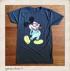 Vintage Inspired Disney Mickey Mouse Hipster Mens T-Shirt | Generation T