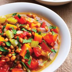 Lentil & Sweet Potato Stew - A lentil stew could be a nice make ahead option. This has many ingredients that aren't allowed. But with sweet potato and lentil base you could add allowed seasonings and vegetables to make it work for you.