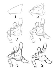 "Quick ""how to draw a hand"" by Kyle Petchock Graphic Design / Illustration #madewithwacom"