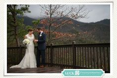 Winter wedding at Hawkesdene, overlooking the Great Smoky Mountains