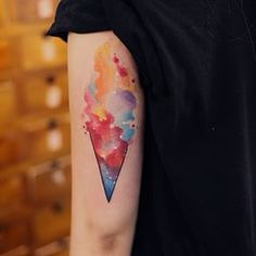 Like the dreamiest ice cream cone. | 32 Cool And Colorful Tattoos That Will Inspire You To Get Inked