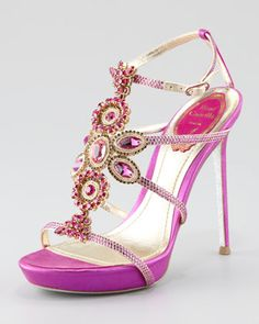 "Crystal-Beaded Sandal by Rene Caovilla at Neiman Marcus.  Carrie Bradshaw said it best...""Hello Luvahhhh!"""
