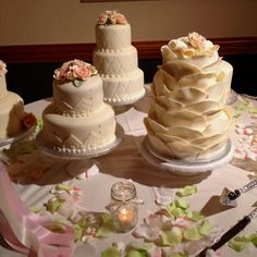 Four wedding cakes!