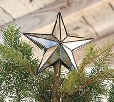 Pottery Barn Rustic Mirror Star Tree Topper  $.