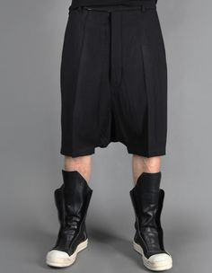 RICK OWENS SHORT TROUSERS WITH LOW CROTCH