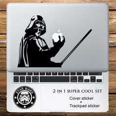 """Star Wars Darth Vader 2 in 1 Cover Sticker + Trackpad Stickers Set Laptop Decal Sticker for Macbook Pro Air Retina 11"""" 13"""" 15""""-in Laptop Skins from Computer & Office on Aliexpress.com 