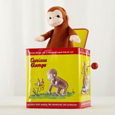 Curious George in the Box in Baby Toys | The Land of Nod