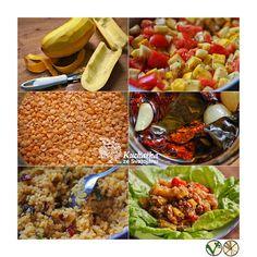 Kuchařka ze Svatojánu: TEPLÝ ČOČKOVÝ SALÁT S PEČENOU CUKETOU A RAJČATY Cobb Salad, Food, Essen, Meals, Yemek, Eten