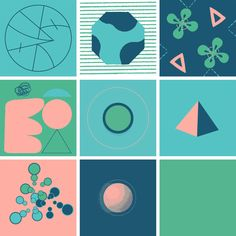 9 Squares: A Collaborative GIF Project for Nine Designers Using Four Colors in…