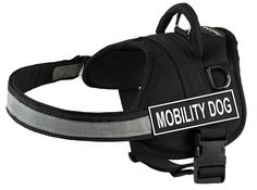 DT Works Harness, Mobility Dog, Black/White, Medium - Fits Girth Size: 28-Inch to 38-Inch * Check out this great product.