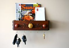 S A L E  mail organizer mail sorter key rack by LegalMissSunshine, $42.00