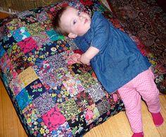 Liberty Quilt, Floor Cushions, My Girl, Quilting, Kids Rugs, Blanket, Fabric, Tejido, Tela