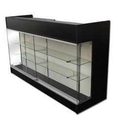 This ledge top counter with showcase front is ideal for displaying merchandise effectively.Includes 2 levels of adjustable deep glass shelves with brackets, 2 drawers, sliding glass doors with lock and 3 storage shelves. Display Furniture, Shelves, Retail Furniture, Jewelry Display Organizer, Showcase Display, Jewerly Displays, Glass Shelves, Glass Showcase, Ceramic Set