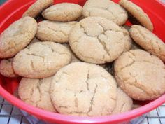 """Big Grandma's Best Peanut Butter Cookies. """"These cookies melt in your mouth. They don't have the normal peanut butter fork crossing, but more of a crackled sugar type cookie"""""""