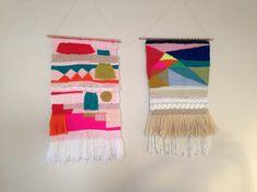 Weaving wall hangings by Maryanne Moodie