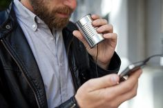 Talk to the Can: an audio device for laptops and cellphones モバイル時代の糸電話『The Can』!? http://kck.st/JUm1Kr