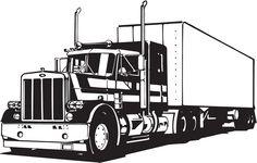 Fashionable 18 Wheeler Semi Big Rig Trailer Traffic Truck Wall Sticker Car Styling Train Tractor Motorycle Stickers For Boys Semi Trucks, Big Rig Trucks, Tow Truck, Corel Draw Design, Wall Stickers Cars, Wall Decals, Wall Art, Truck Tattoo, White Truck